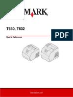 Lexmark T632 User Manual