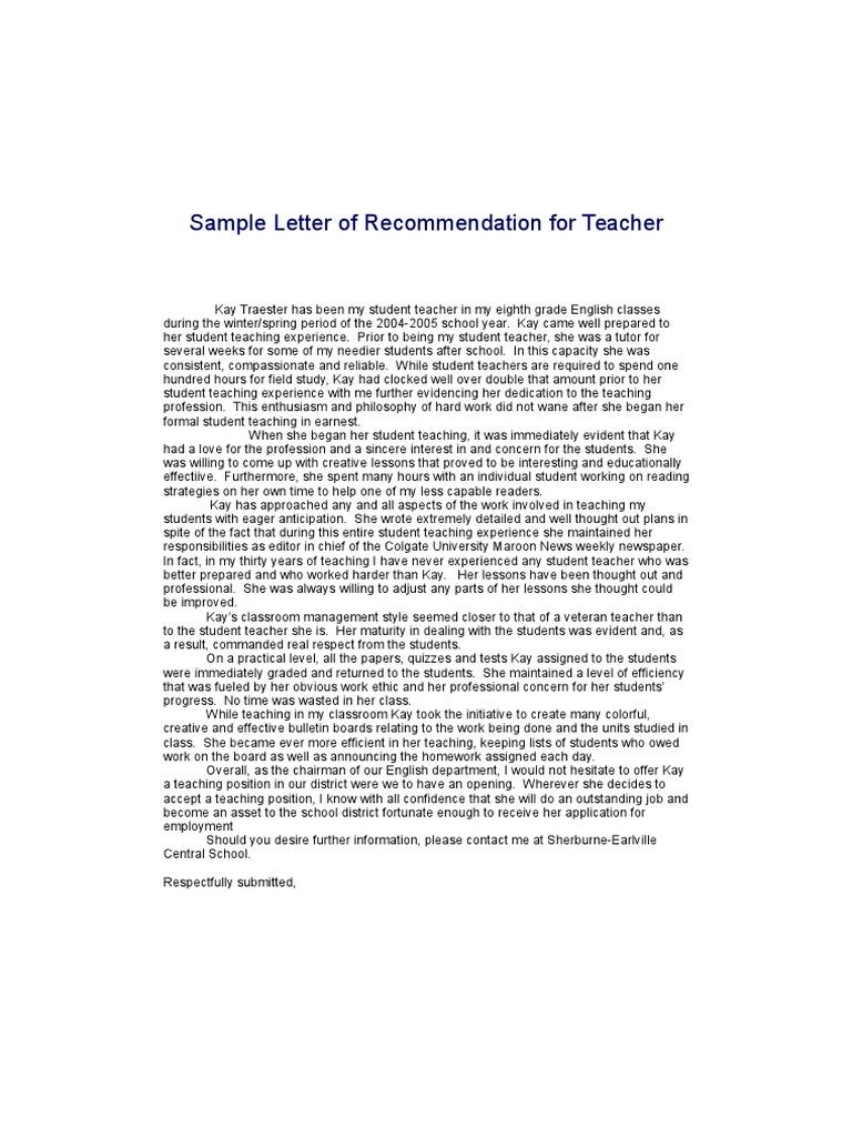 Sample Letters of Recommendation | Law Clerk | Graduate School