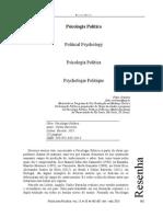 Ortolano, Fabio. (2013). Psicologia Política.