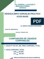 Desequilibrio Hidroelectrolítico Acido Base.... Dr Herich