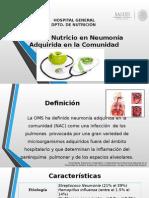 Manejo Nutricio en Neumonía Adquirida en La Comunidad LISSSSTOOOO
