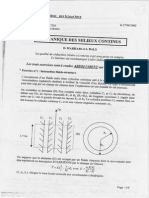 DS Mecanique Milieux Continus 2002-2003