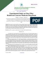 Experimental Study on Glass Fiber Reinforced Concrete Moderate Deep Beam