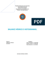 Trabajo de Hidrologia ( Balance Hídrico e Hidrogramas)