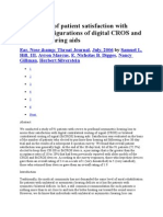 Assessment of Patient Satisfaction With Various Configurations of Digital CROS and BiCROS Hearing Aids