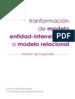 Paso a modelo relacional - Gestión de hospitales