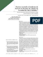 Díaz Et Al. Burnout en Docentes
