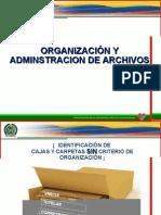 Organizacion y Administracion de Archivos.