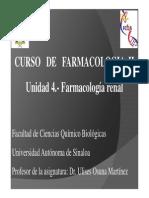 Unidad 4.- Farmacología Renal