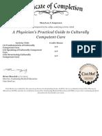 cultural competency certificate
