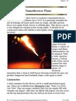 Flamethrower Using Isopropyl Alcohol and Butane Lighter