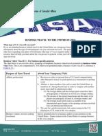 BusinessVisa Purpose Listings March 2014 Flier