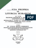 Officia Propria in Liturgia Horarum (OFM Conv., 1974)