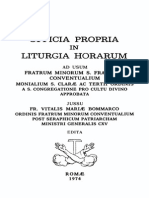 Officia Propria in Liturgia Horarum (OFM Conv., 1974)