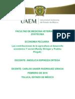 Aportaciones de La Agricultura Al Desarrollo Economico y Social ( E-jade) Carlos Xavier -Economia Pecuaria
