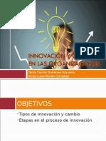 Innovación y cambio en las organizaciones