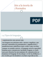 Introduccion a La Teoria de Lenguajes Formaless