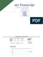 student transcript and gpa calculation
