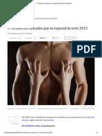 3 Tendencias Sexuales Que Se Impondrán Este 2015