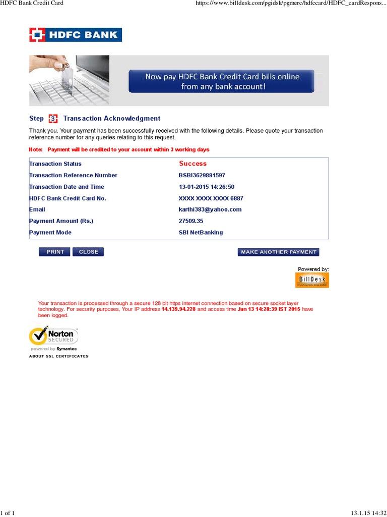 Hdfc Bank Credit Card Uploaded By J Kishan