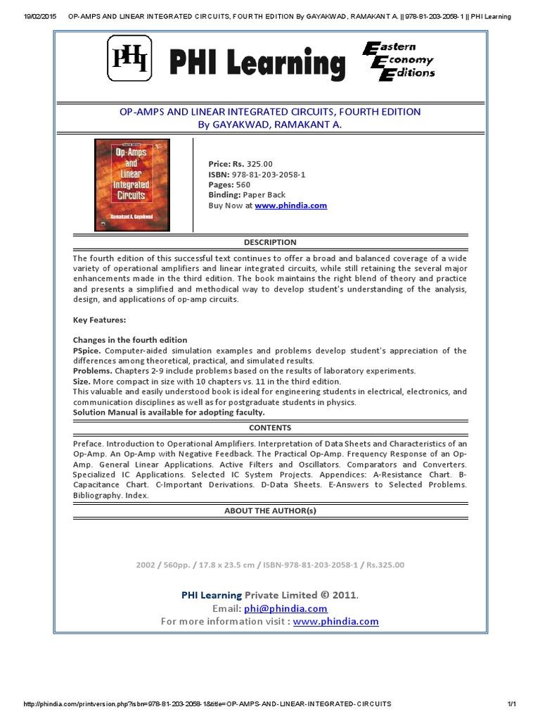 Gayakwad pdf amp op