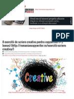 8 exercitii de scriere creativa pentru copywriteri (+ 2 bonus) _ Romanian Copywriter