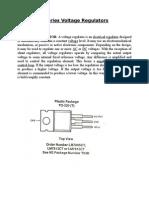 LM7805 Series Voltage Regulators