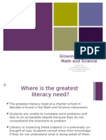 ppt growing literacy in math science