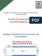 Analisis transistorio de una linea de transmision
