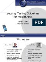 Guidelines Mobile App Security Testing