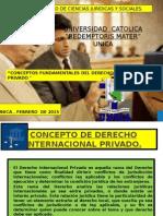 Conceptos Fundamentales Del Derecho Internacional Privado. Unica Febrero de 2015