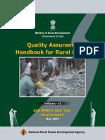 Quality Assurance Hand Book for Rural Roads VolumeII