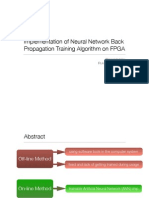 Implementation of Neural Network Back Propagation Training Algorithm on FPGA