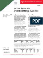 Formulating Rations