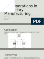 Unit Operations in Secondary Manufacturing