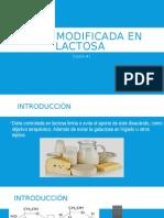 Dieta modificada en lactosa