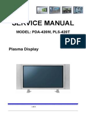 ADMIRAL, SEIKO plasma PDA-420M,PLS-420T doc   Television
