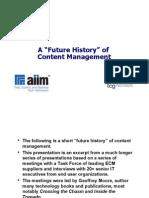 Content Management Future History