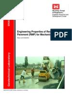 Engineering Properties of Resin Modified