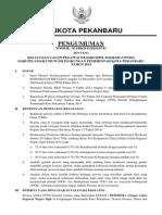 Pengumuman Lulus Cpns Pelamar Umum Kota Pekanbaru 2014