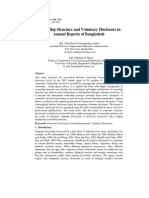 Ownership Structure and Voluntry Disclosure in Bangladesh