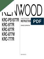 Manual Kenwood KRC 777 r B64-1342-00