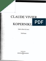 Claude Vivier - Kopernikus Score