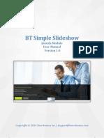 BT Simple Slideshow User Manual 1.0