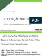 Aula 01 - Introdução à Educação Nutricional