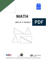 Math 4 Dlp 85 - Area of a Triangle