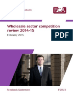 Wholesale Sector Competition FCA Review 2015