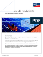 Performance Ratio (Versión Español)
