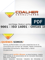 Triple Integrado Iso 9001 - 14001 y Ohsas 18001 Coalher
