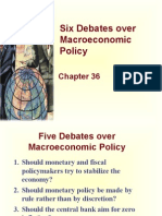 Lec-15 - Chapter 36 - Six Debates over Macroeconomic Policy.ppt